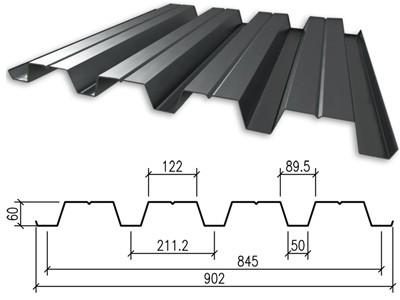 Профнастил оцинкованный НC-60 0.50x845x6000