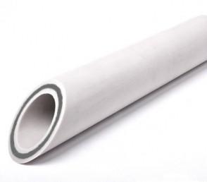 Труба белая ф20 со стеклов.(для отопления) 1м.пог.