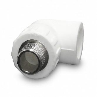 Уголок белый ф40-1,1/4 наруж.