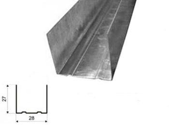 Профиль направляющий 28х27х3м 0,40мм Эконом