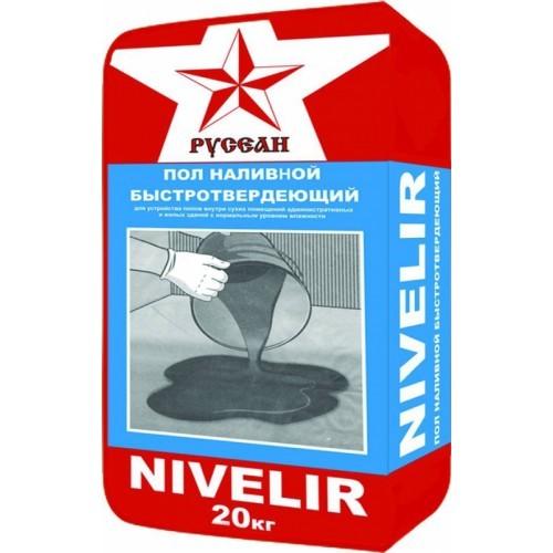 Наливной пол Нивелир Русеан (Nivelir) 20кг