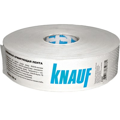 Лента углоформирующая бумажная КНАУФ 50ммх153м